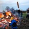 Holz auf Feuer