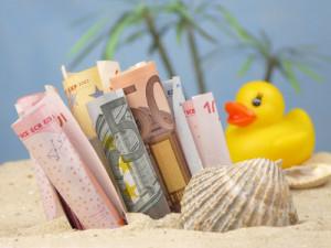 Geld am Strand