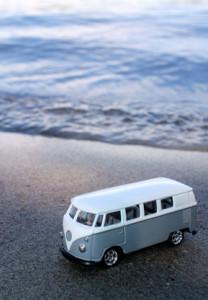 Camping Bus am Strand